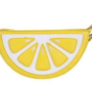 Lemon Clutch/Crossbody Purse